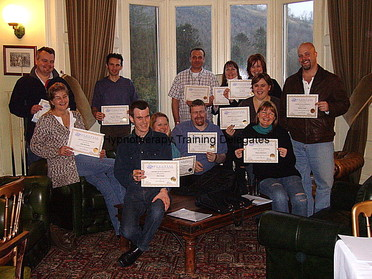 hypnotherapy students with diploma